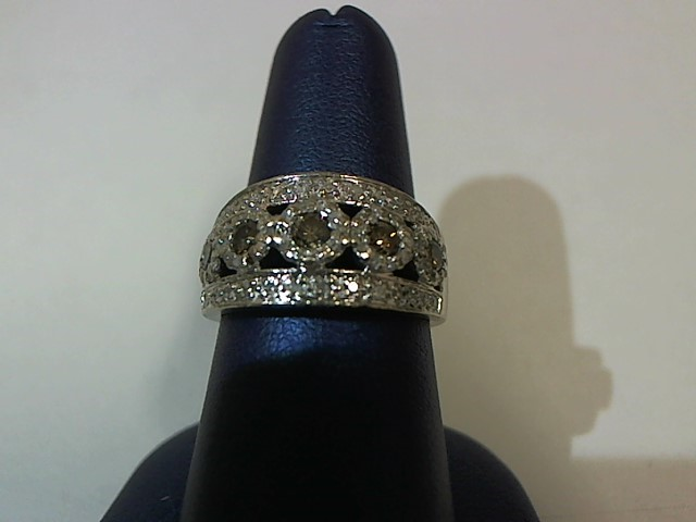 Lady's Diamond Fashion Ring 78 Diamonds .98 Carat T.W. 14K White Gold 6.1g