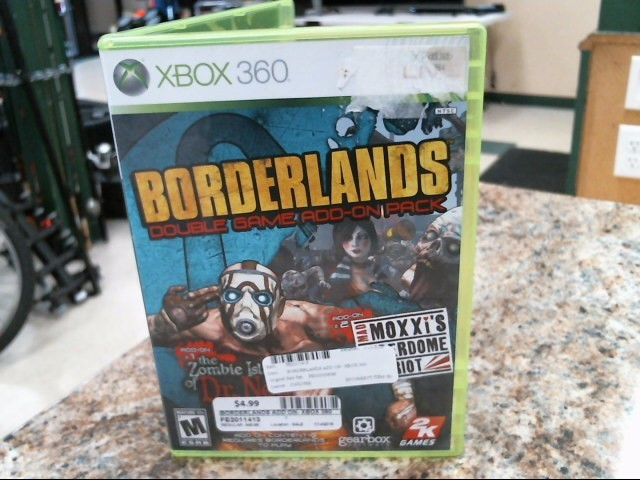 MICROSOFT Microsoft XBOX 360 Game BORDERLANDS DOUBLE GAME ADD-ON PACK
