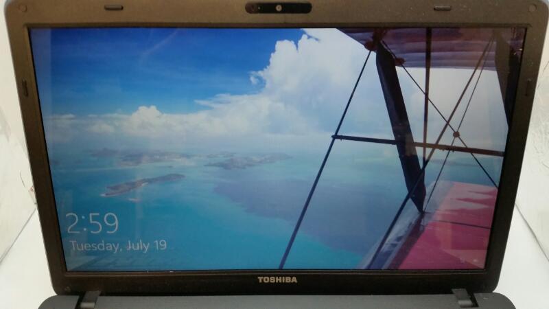 "TOSHIBA SATELLITE C650D, 4GB RAM, 320 HDD, WIN 10 15.5"" Laptop"