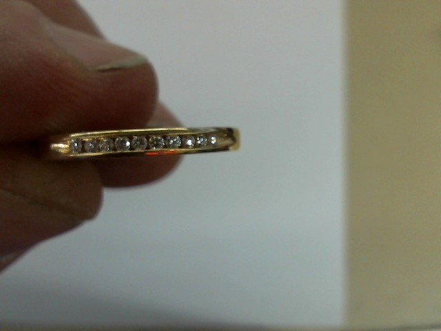 Lady's Diamond Wedding Band 10 Diamonds .20 Carat T.W. 14K Yellow Gold 2.3g