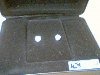 Gold-Diamond Earrings 2 Diamonds .80 Carat T.W. 14K White Gold 1g
