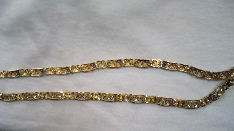 "16"" Gold Fashion Chain 10K Yellow Gold 12.2g"