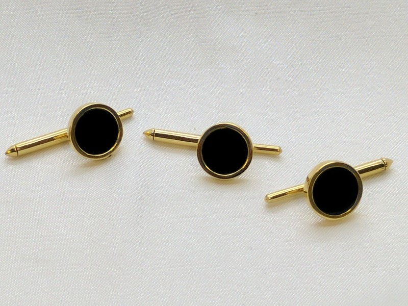 Onyx Gold-Stone Misc. 14K Yellow Gold 8.8g