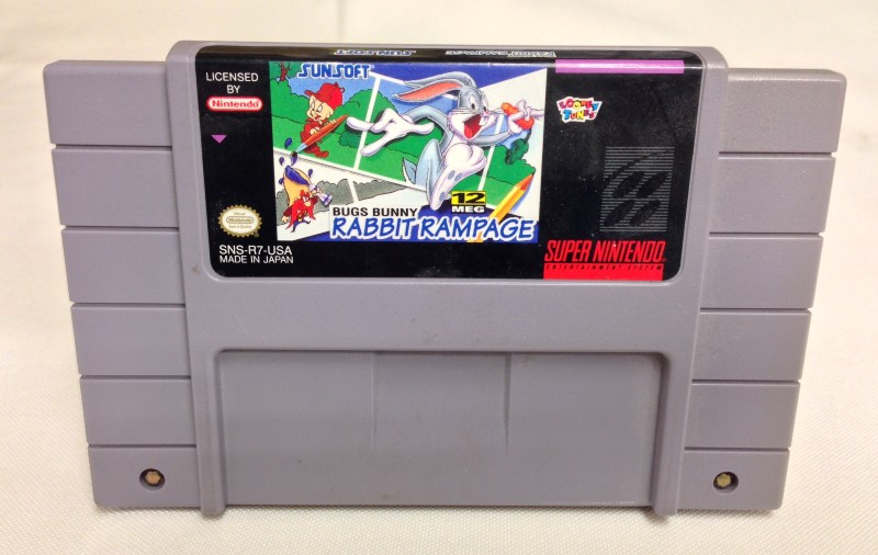 SUPER NINTENDO SNES GAME BUGS BUNNY RABBIT RAMPAGE *CART ONLY*