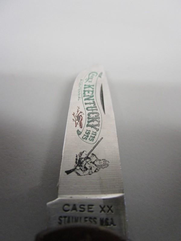 CASE XX KENTUCKY BICENTENNIAL FOLDING KNIFE, 1775-1975, P137SS