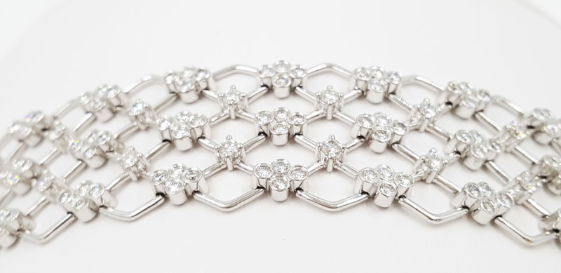 """Kwiat Jasmine Diamond Bracelet 18K 15289WG Size: 7"""""""