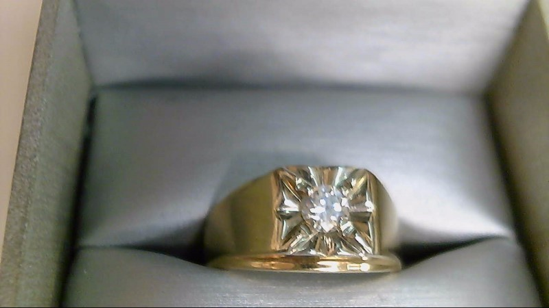Gent's Diamond Solitaire Ring .36 CT. 14K Yellow Gold 7.8g