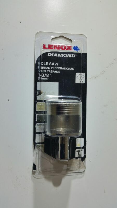 LENOX HOLE SAW 1-3/8, DIAMOND GRIT FOR CERAMIC AND TILE