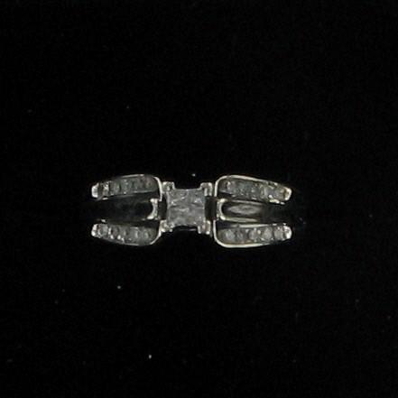Lady's Diamond Fashion Ring 24 Diamonds .28 Carat T.W. 10K White Gold 1.7dwt