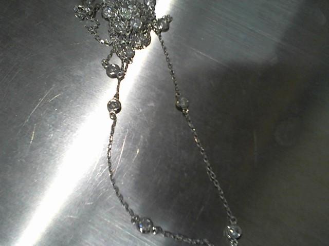 "34"" Diamond Necklace 20 Diamonds 2.00 Carat T.W. 14K White Gold 6.3g"