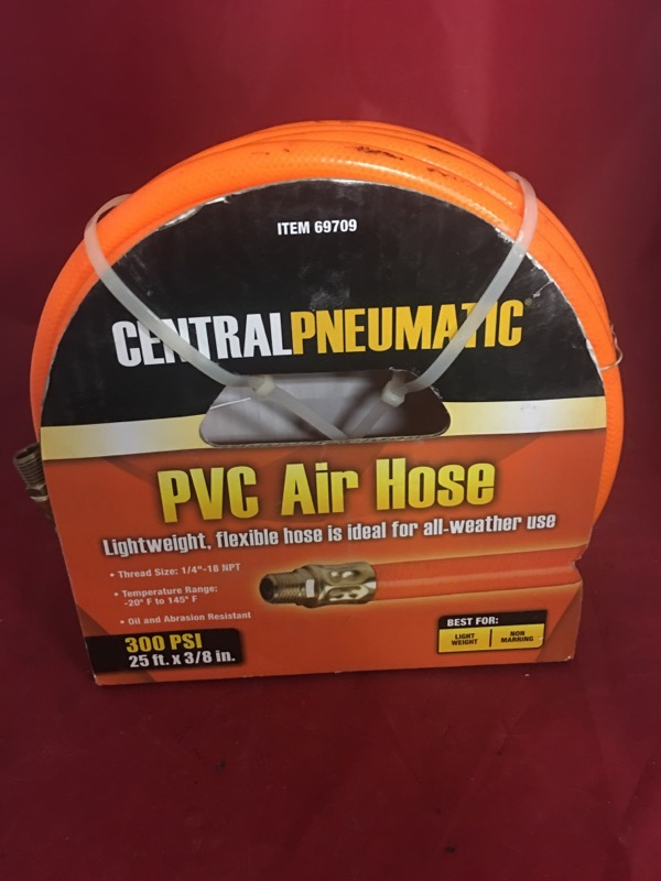 CENTRAL PNEUMATIC Miscellaneous Tool 25FT PVC AIR HOSE