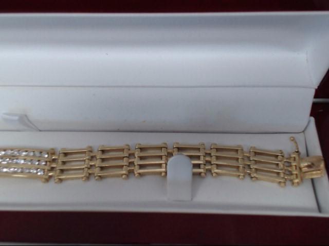 Gold-Diamond Bracelet 39 Diamonds 1.95 Carat T.W. 14K Yellow Gold 39.6g
