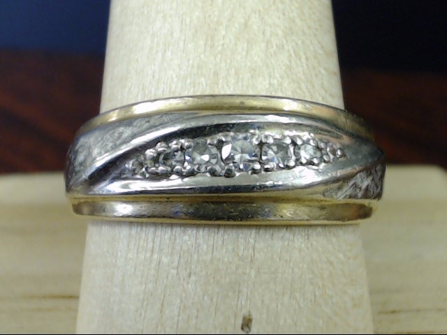 NATURAL DIAMOND .18 TCW WEDDING RING BAND REAL 14K GOLD 7g MEN SZ 10