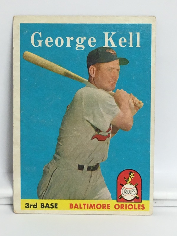 T.C.G. PRTD  GEORGE KELL 3RD BASE BALTIMORE ORIOLES #40