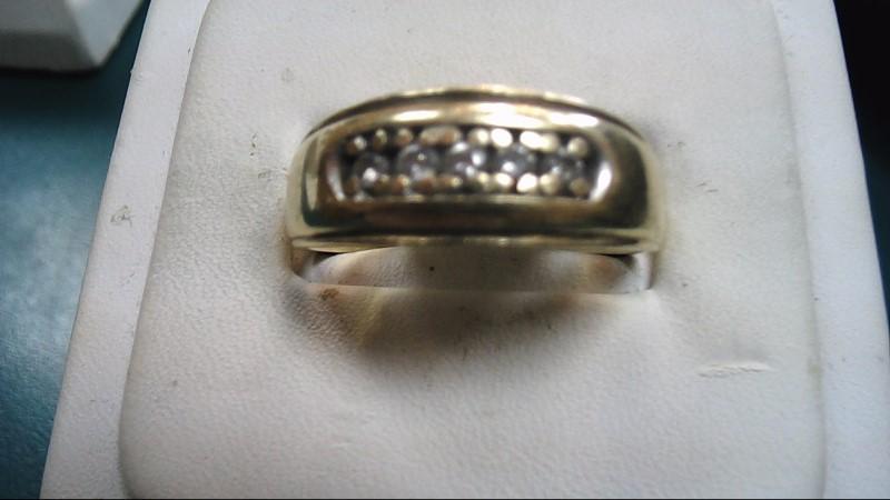 Gent's Diamond Fashion Ring 5 Diamonds .50 Carat T.W. 10K Yellow Gold 6g