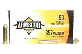 ARMSCOR Ammunition .357 MAGNUM 158 GR FULL METAL JACKET