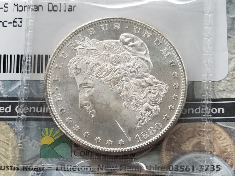 U.S. 1880-S MORGAN SILVER DOLLAR