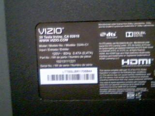 "VIZIO Flat Panel Television 24"" TV"