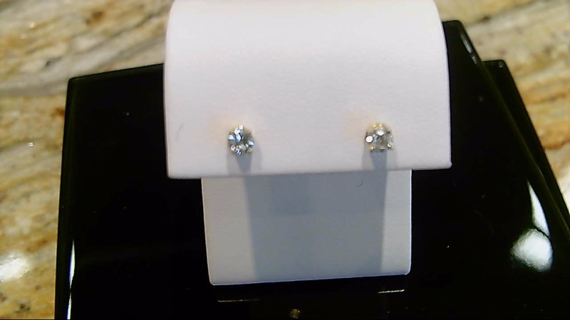 14K YELLOW GOLD 1/4CTTW ROUND DIAMOND STUD EARRINGS