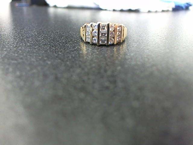 Lady's Diamond Fashion Ring 21 Diamonds .78 Carat T.W. 14K Yellow Gold 5.1g