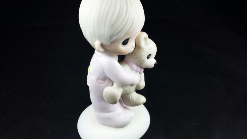 Precious Moments - Jesus Loves Me Boy and Bear E-1372