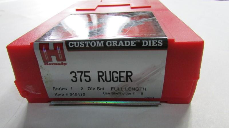 375 RUGER 2 DIE SET, HORNADY