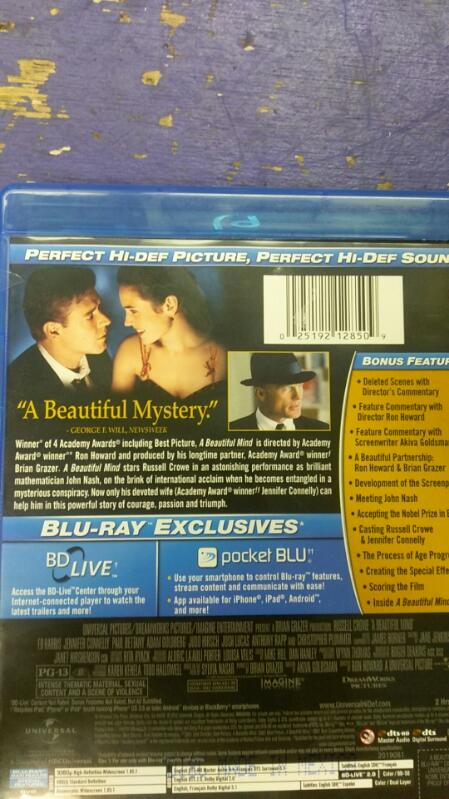 A BEAUTIFUL MIND BLUE RAY MOVIE