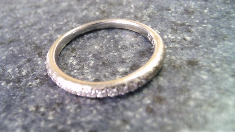 Lady's Gold-Diamond Anniversary Ring 18 Diamonds .54 Carat T.W. 14K White Gold