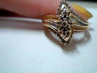 Lady's Diamond Cluster Ring 50 Diamonds .50 Carat T.W. 10K Yellow Gold 5g