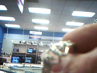 Lady's Diamond Fashion Ring 2 Diamonds .02 Carat T.W. 10K White Gold 1.32g