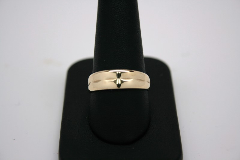 FASHION GOLD BAND 14K YELLOW GOLD