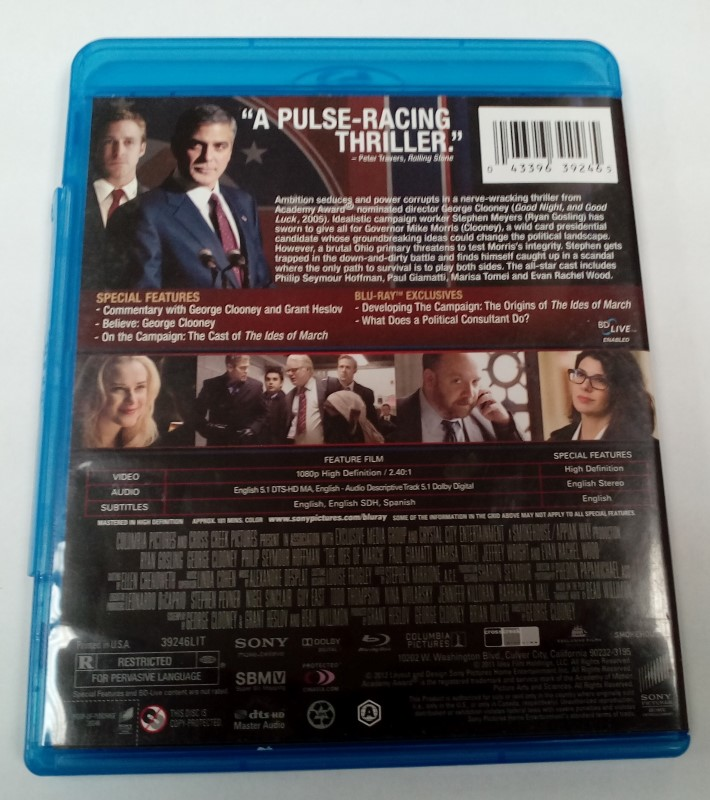 BLU-RAY MOVIE THE IDES OF MARCH