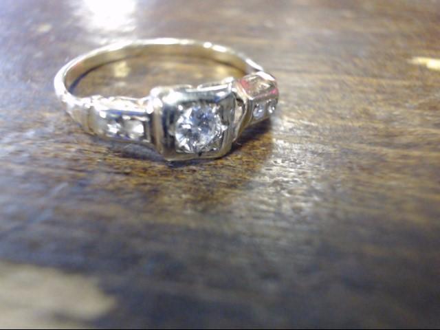 Lady's Diamond Cluster Ring 5 Diamonds .19 Carat T.W. 14K Yellow Gold 1.4g