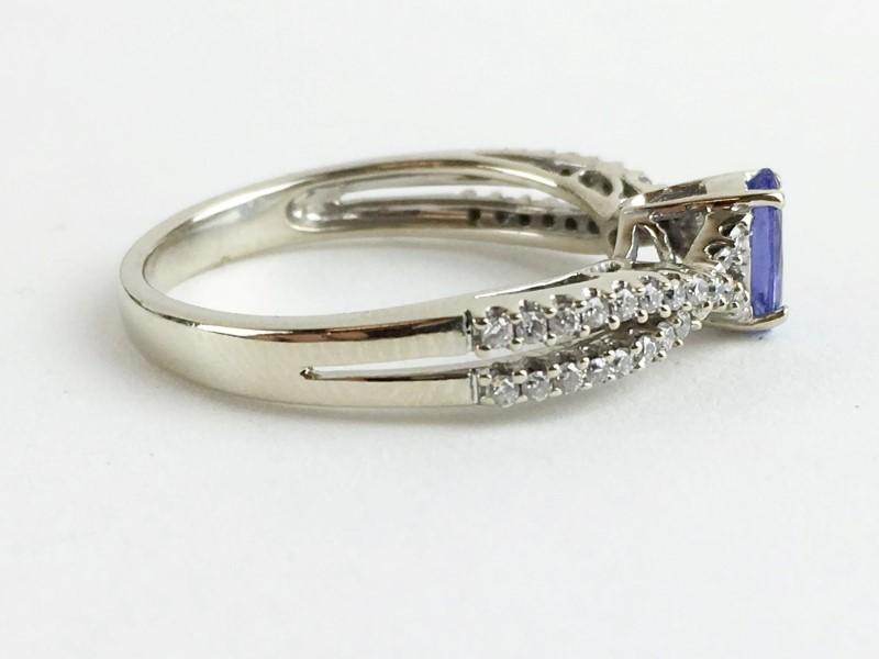Tanzanite & Diamond Ring 44 Diamonds .44 Carat T.W. 14K White Gold