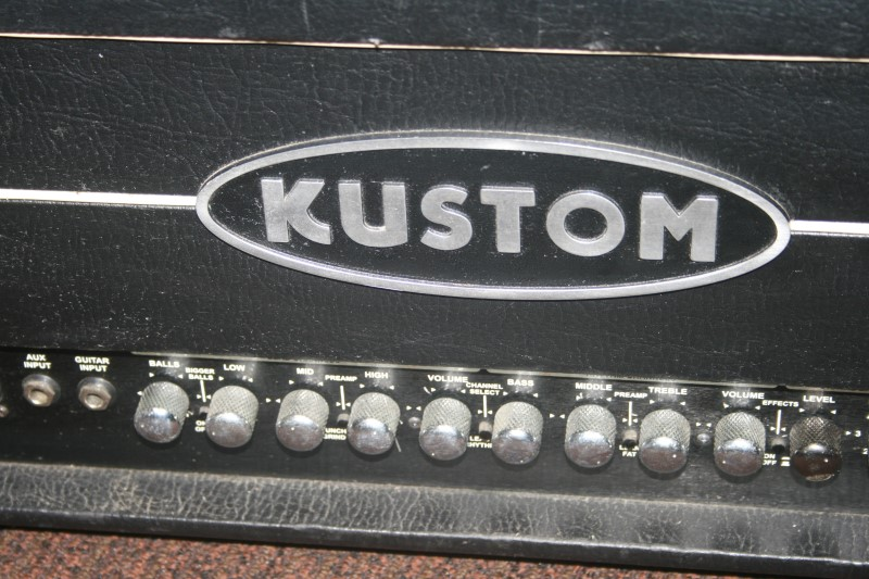 Kustom Amplification Electric Guitar Amp Quad 100 Head