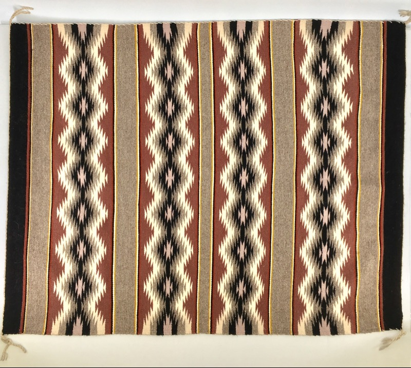 Small Rug Handcrafted Tan/Grey/White/Yellow 31x40""