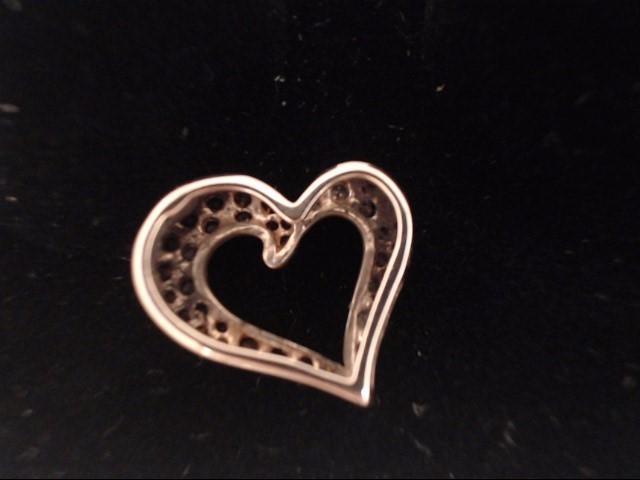 Gold-Diamond Solitaire Pendant 15 Diamonds .45 Carat T.W. 14K Rose Gold 0.8g