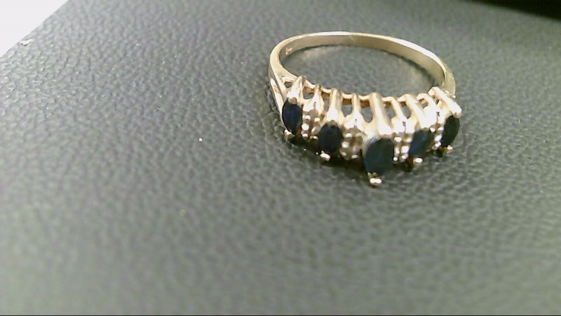 Sapphire Lady's Stone Ring 14K Yellow Gold 2.9g