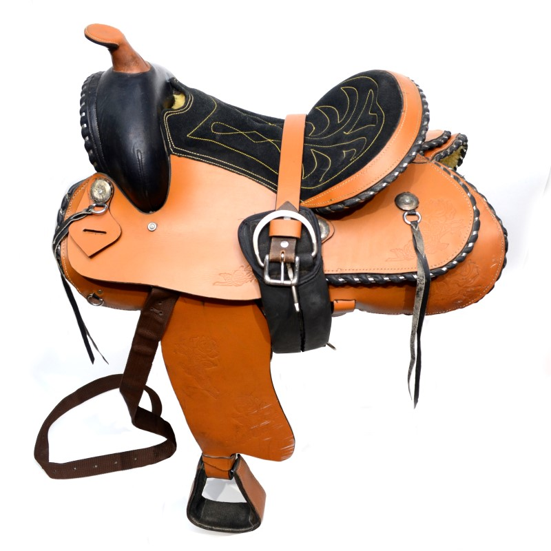 "Custom 15"" Rose Design Western Trail/Show Horse Saddle W/ Cinch"