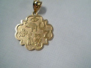 Gold Pendant 14K Yellow Gold 3.8g