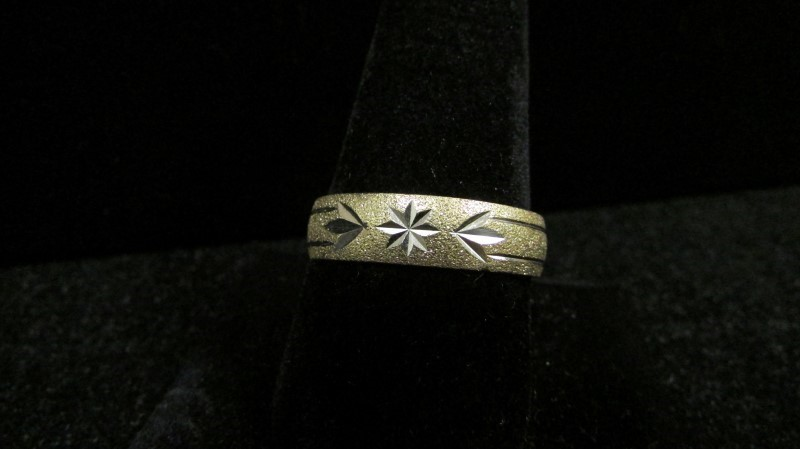 Gent's Gold Ring 14K 2 Tone Gold 5.2g Size:12