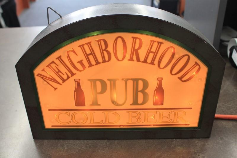 NEIGHBORHOOD PUB SIGN