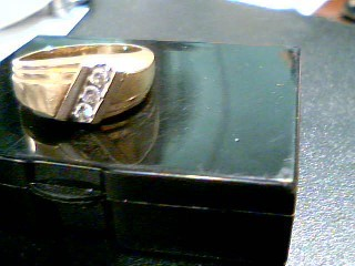 Lady's Gold-Diamond Anniversary Ring 3 Diamonds .30 Carat T.W. 14K Yellow Gold