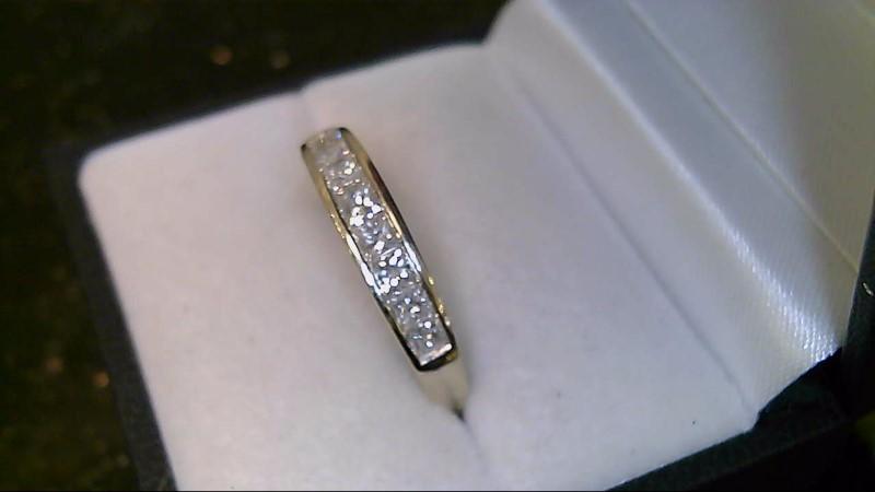 lady's 14k white gold princess cut diamond band