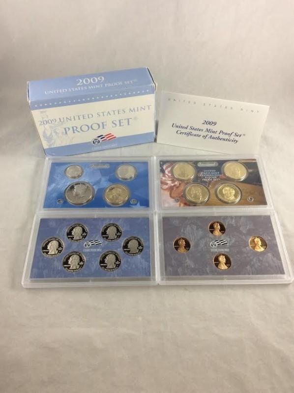2009 United States Mint Proof Set USA Department Of Treasury San Francisco Mint