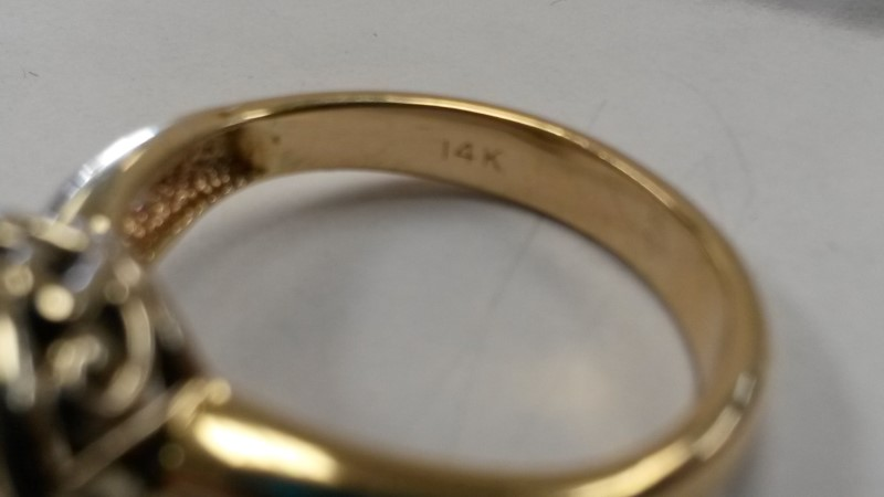 Lady's Diamond Engagement Ring 32 Diamonds 1.16 Carat T.W. 14K Yellow Gold
