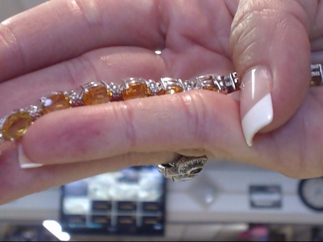 Yellow Stone Silver-Stone Bracelet 925 Silver 8.9dwt