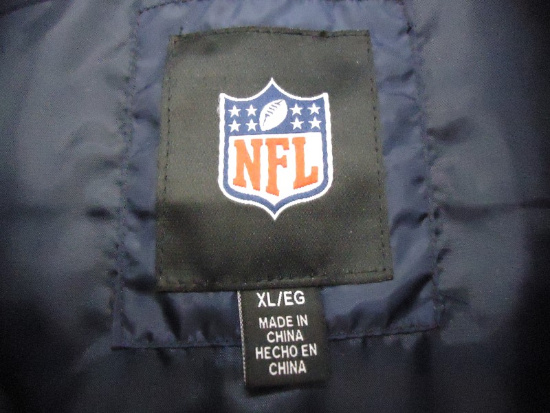 CHICAGO BEARS Coat/Jacket TWILL JACKET NFL BLITZ BLUE ORANGE