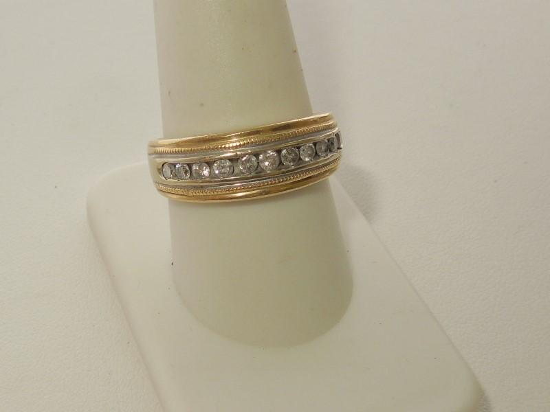 Lady's Diamond Wedding Set 11 Diamonds .44 Carat T.W. 14K 2 Tone Gold 7.9g
