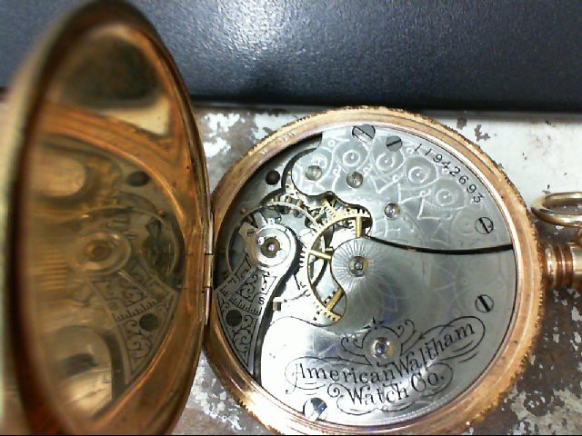 GRUEN AMERICAN WALTHAM COMPANY POCKET WATCH